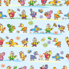 Pattern, bird, spring, summer, vector, drawing, picture, background
