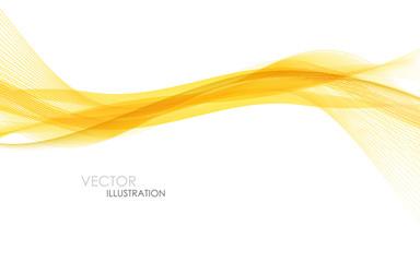 Foto auf Gartenposter Abstrakte Welle Abstract orange waves - data stream concept. Vector illustration