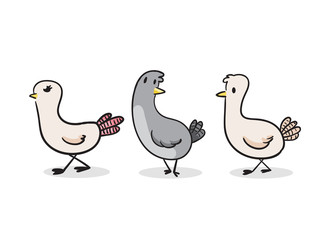 Cute Pigeon vector illustration