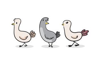Cute Pigeon vector illustration