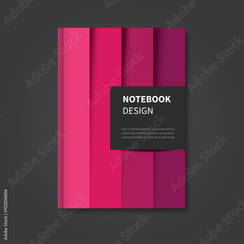 Modern Book Cover Up : Quot modern vector design abstract notebook brochure
