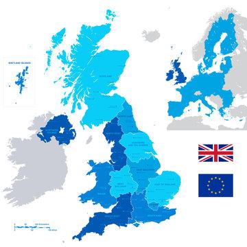 Vector Administrative UK Map
