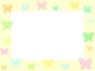 蝶のフレーム