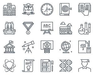 Education, school icon set