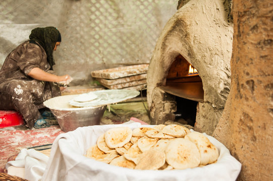 traditional flat bread staple diet of Egypt