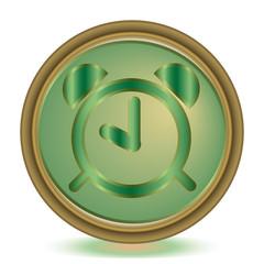 Alarm emerald color icon