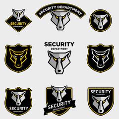 Волк, логотип охранной фирмы