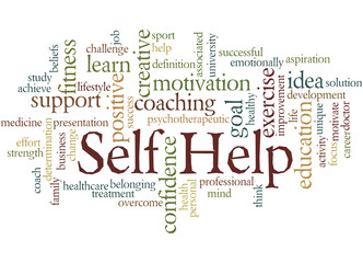 Self Help, word cloud concept 2