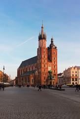 Autocollant pour porte Cracovie St. Mary's Basilica, Krakow Poland
