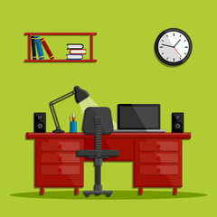 Modern business office workspace
