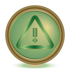 Alert emerald color icon