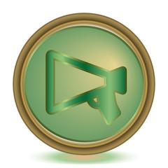 Announsment emerald color icon