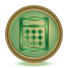 Calculator emerald color icon