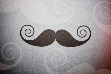 Composite image of mustache logo