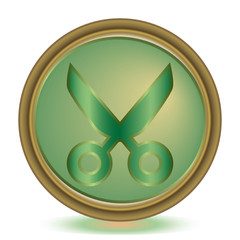 Cut emerald color icon