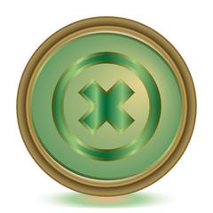 Delete emerald color icon