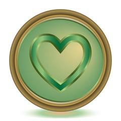 Favorite emerald color icon