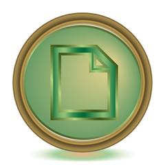File emerald color icon