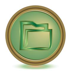 Folder emerald color icon