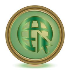 Go to web emerald color icon