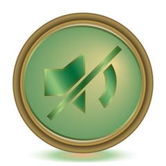 Mute emerald color icon