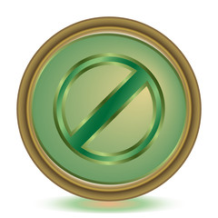Restricted emerald color icon