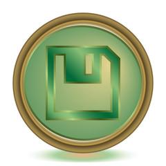 Save emerald color icon