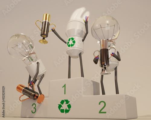 Ampoule basse consommation championne 2 photo libre de droits sur la banque d 39 images fotolia - Ampoule basse consommation gratuite ...