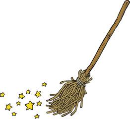 Cartoon magic broom