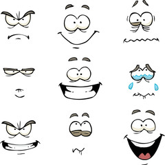 Cartoon comics face
