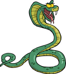 Cartoon snake cobra