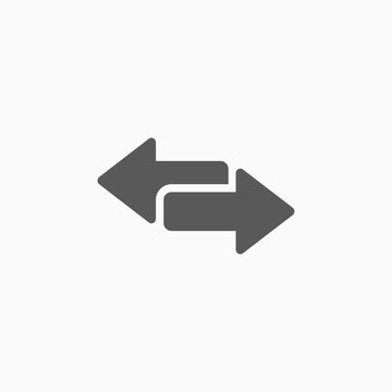 arrow to left and right icon