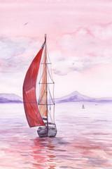 Sailing toward sunset
