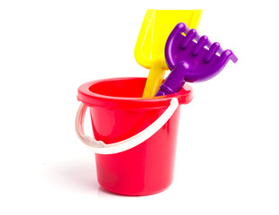 Baby toy bucket and shovel rake