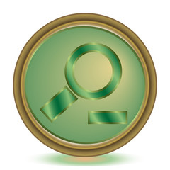Zoom out emerald color icon
