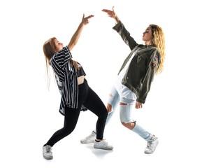 Two dancers women