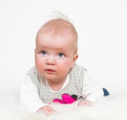 Cute baby girl isolated