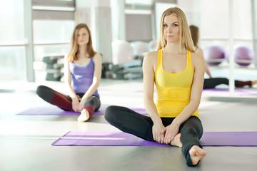 Sport woman, aerobic