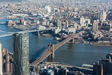 Downtown Manhattan- view of Brooklyn Bridge and Manhattan Bridge