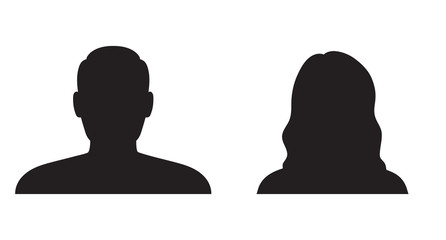Man and woman silhouette Wall mural