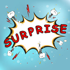 surprise! bubble on burst background, Vector Illustration
