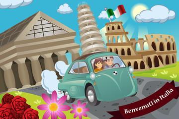 Couple  Honeymoon Around Italy
