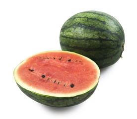 water melon isolated on white background , clipping path