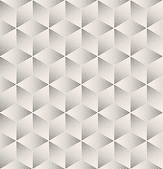 Seamless Stippled Vintage HalfTone Geometric Pattern. Vector