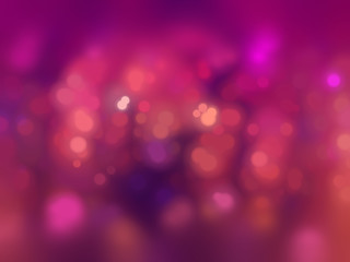 Bokeh light, shimmering blur spot lights on pink abstract