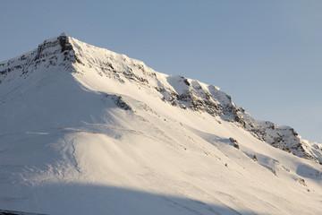 The mountains around the city of Longyearbyen, Spitsbergen (Svalbard)