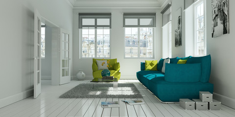 helles modernes Wohnzimmer