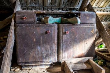 Old abandoned bedside tables, left on loft