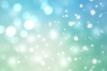Christmas blue background. the winter background