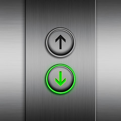 Elevator panel with a LED button